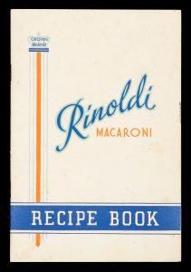 [COOKERY] Rinoldi macaroni recipe bookTHOS. REYNOLDS# 14896