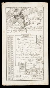 [MELBOURNE] Farewell menu for Basil Manly Tabuteau, of the Brighton District Football Club