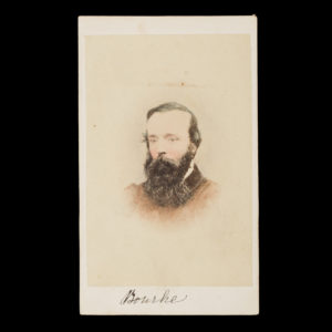 # 15000  [THOMAS ADAMS HILL]; GLENNY, Henry (1835-1910)  Photographic portrait of the explorer Robert O'Hara Burke  $3,300.00