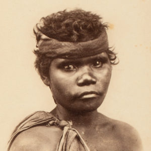 # 15035  MÜLLER, Henry (Heinrich) (attributed)  Photographic portraits of a young Aboriginal woman, Toowoomba, 1868-69  $2,400.00
