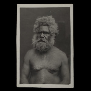 # 15037  SOUTH AUSTRALIAN GOVERNMENT PHOTOGRAPHER  Photographic portrait of an Aboriginal elder, Murray River, South Australia, circa 1920  $175.00