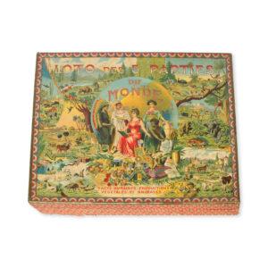 # 5278  SAUSSINE, L. (publisher)  [CHILDREN'S GAME] Loto des 5 parties du monde. Race humaines, productions végétales et animales