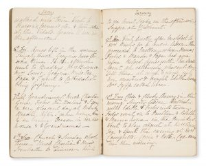 Manuscript diary of Elizabeth Stephen, daughter of Rev. A.H. Stephen, Redfern, Sydney, 1871STEPHEN, Elizabeth Amy Winbourn (b. Mulgoa, 1853 - d. Katoomba, 1946)# 14973