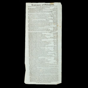 # 15336  [COUNTY OF DEVON]  [TRANSPORTATION] Sentences of Prisoners, that have been tried at Devon Lent Assizes, commencing March 18, 1828, before Sir Joseph Littledale, and Sir Stephen Gaselee, Knights.