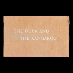 # 15399  LEAR, Edward  The duck and the kangaroo