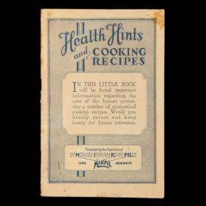 # 14985  W.H. COMSTOCK CO.  Health hints and cooking recipes