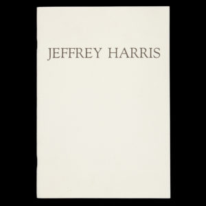 # 15102  [HARRIS, Jeffrey]  Jeffrey Harris : Recent Work