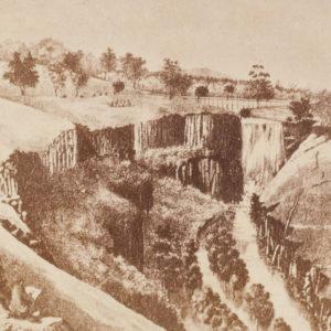 # 15228  COGNÉ, Francois; TROEDEL, Charles; photographer unknown.  The Lal Lal Falls near Ballarat 1863