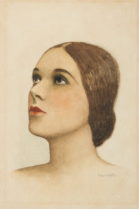 # 15401  WOOD, Rex (1906-1970)  Portrait of a young woman
