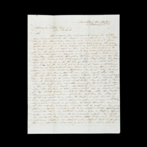 # 15422  BAIN & BURTT; [GIBBS, Alexander]  [NEW ZEALAND] Whaling letter written from Auckland to New Bedford, Massachusetts, 1853