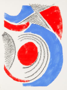 # 15425  Lithographed invitation card by Sonia Delaunay, Paris 1964
