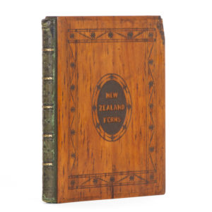 # 15432  CRANWELL, Thomas  Album of New Zealand pressed ferns in a presentation rimu wood binding