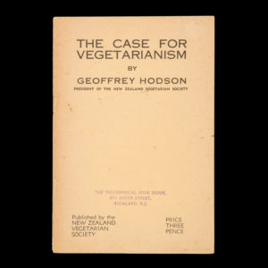 # 15407  HODSON, Geoffrey  The case for vegetarianism