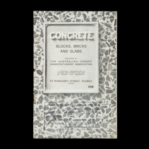 # 15409  AUSTRALIAN CEMENT MANUFACTURERS' ASSOCIATION  Concrete blocks, bricks and slabs