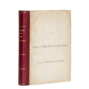 # 15544  NYE, Gideon (1812 - 1888)  The gage of the two civilizations : shall Christendom waver?