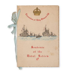 # 15354  [GREAT BRITAIN. ROYAL NAVY]  List of warships to be present at the Naval Review at Spithead, August 16th, 1902, in honour of the Coronation of King Edward the VIIth.