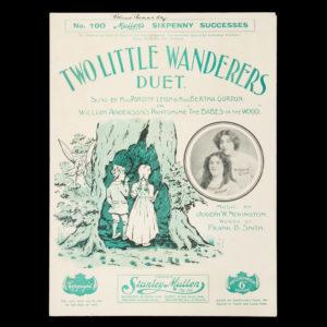 # 15441  NEWINGTON, Joseph W. (composer); SMITH, Frank B. (lyricist)  [SHEET MUSIC] Two little wanderers : duet