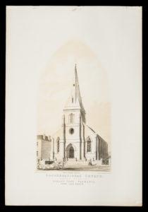 # 15379  PHILP, James E. (lithographer) (1830 - 1865)  Congregational Church. Davey Street, Hobart Town – Tasmania. George Clarke, Minister.