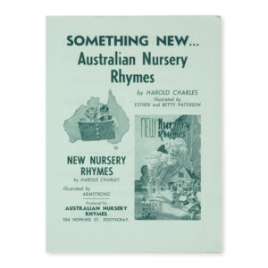 # 15623  CHARLES, Harold  [PROSPECTUS]. Something new … Australian Nursery Rhymes