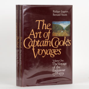 # 15768  JOPPIEN, Rüdiger and SMITH, Bernard  The art of Captain Cook's voyages. Volumes one and two.