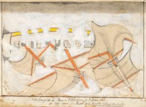 # 15736  GENDRON, Ernest  [MANUSCRIPT] Campagne de la Corvette à Voiles l'Alcméne. Commandée par Mr. Coudein, Capitaine de Frégate, à destination des Mers du Sud et Océanie.