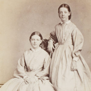 # 15636  DURYEA, Townsend (1823-1888)  [ADELAIDE; WINE] Photographic portrait of Sarah and Ann Jacob, circa 1866
