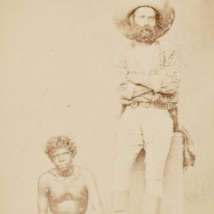 # 15695  Photographer unknown.  Gold digger and Aborigine, Port Darwin, September 1875