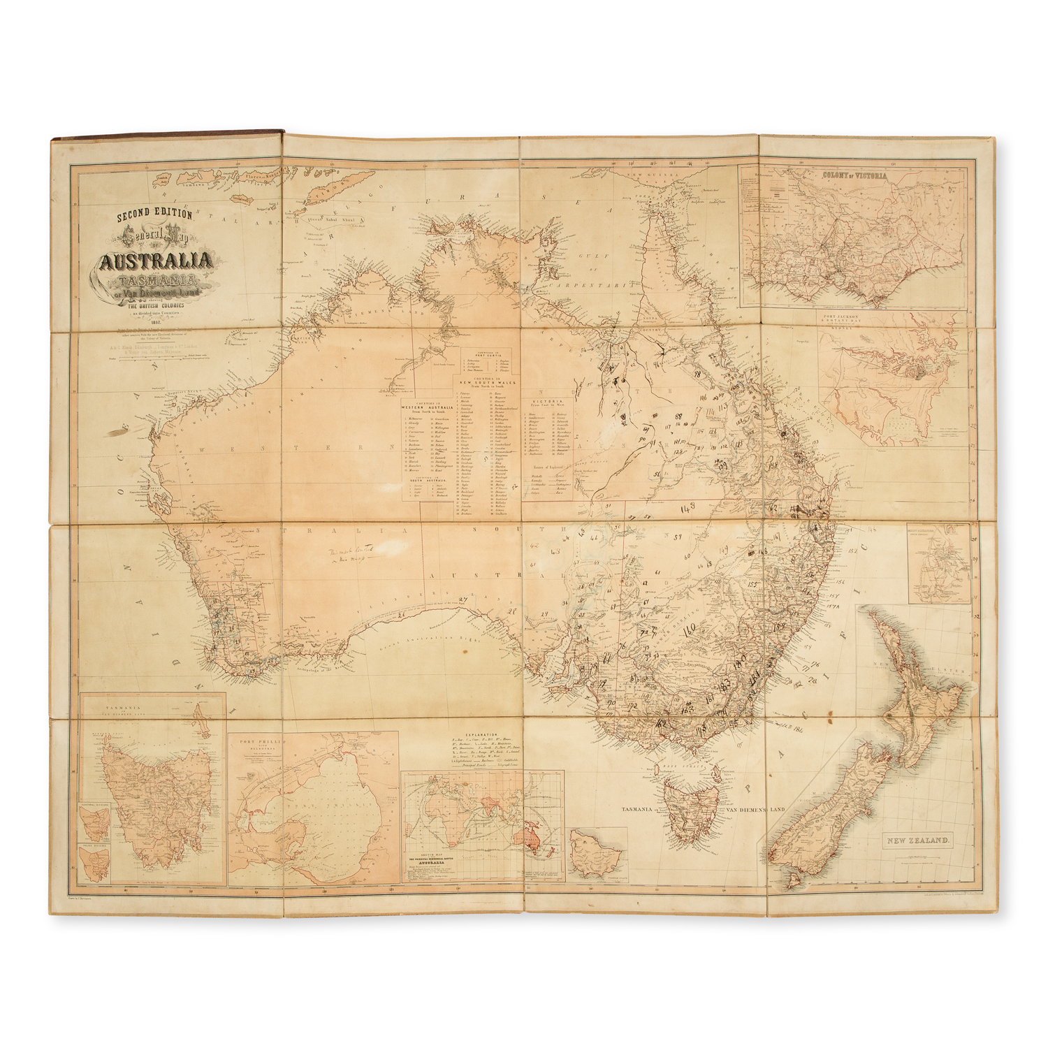 Map Of Australia Tasmania And New Zealand.General Map Of Australia And Tasmania Or Van Diemen S Land Shewing