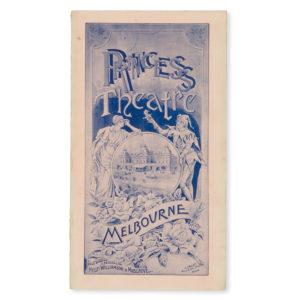 "# 15682  WILLIAMSON, James Cassius; MUSGROVE, George; [HART, Francis, librettist]; [ROBINSON, W.C.F., Sir, composer]  Princess Theatre, Melbourne. Programme for the world premiere of the comic opera ""Predatoros"", November 12 1894"