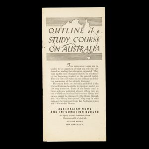 # 15663  Outline of a study course on Australia