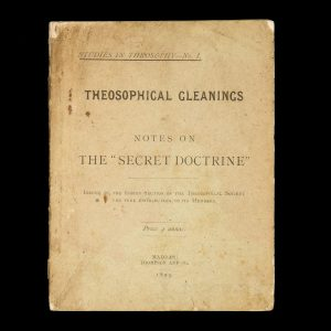 """# 15508  BESANT, Annie; COOPER-OAKLEY, I. (attrib.)  Theosophical gleanings, or, notes on the """"Secret Doctrine"""""""