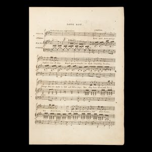 # 15798  BLOCKLEY, John (composer); NORTON, Caroline Sheridan  [SHEET MUSIC] Love not : a ballad /​ the music composed by J. Blockley ; the poetry selected from The soorows of Rosalie, written by The Honble. Mrs Norton.