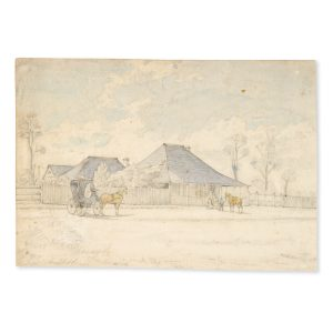 "# 15816  Artist unknown  ""Cedar Lodge"", Ipswich, Queensland; the residence of Abraham Fitzgibbon, first Commissioner and Chief Engineer of the Queensland Railways."