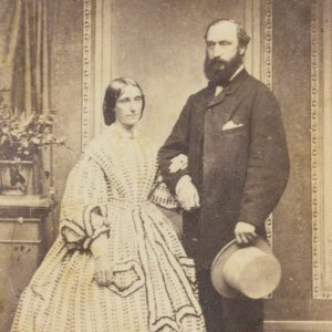 # 15818  HETZER, William fl. 1850-1867  Photographic portrait of a distinguished gentleman and his wife, Sydney, 1862-64.