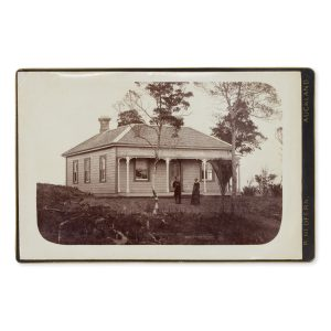 # 15819  SALT, M.; [REDFERN, Richard]  [NEW ZEALAND] View of the Wesleyan Methodist parsonage at Paparoa, home of Rev. T.N. Griffin, circa 1885.