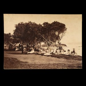 # 15834  Photographer unknown.  [MELBOURNE] Brighton Beach on Boxing Day, circa 1880.