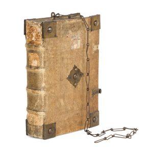 # 15837  SAINT BONAVENTURE (Giovanni di Fidanza), 1221-1274; PETRUS LOMBARDUS, 1100-1160  [CHAINED BINDING] Quaestiones super III-IV libros sententiarum Petri Lombardi cum textu eiusdem.