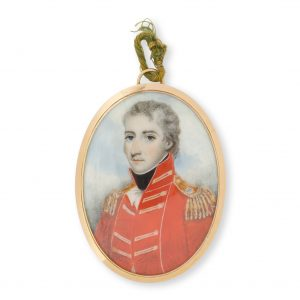 # 15754  PLIMER, Nathaniel, 1757-1822, attributed  A portrait miniature of Lieutenant-Colonel Thomas Brisbane, sixth Governor of New South Wales, 1821-1825