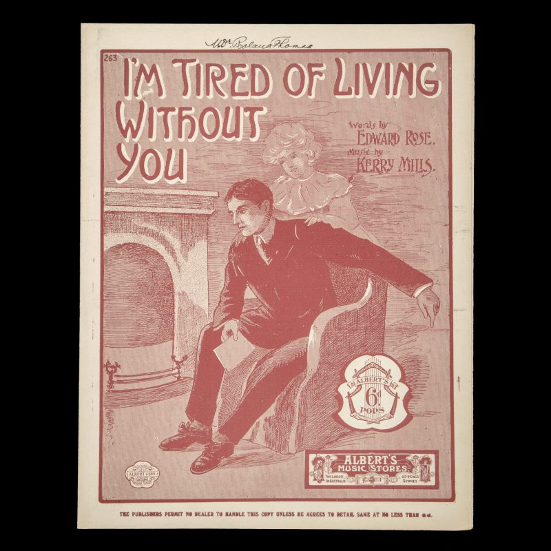 [SHEET MUSIC] I'm tired of living without you