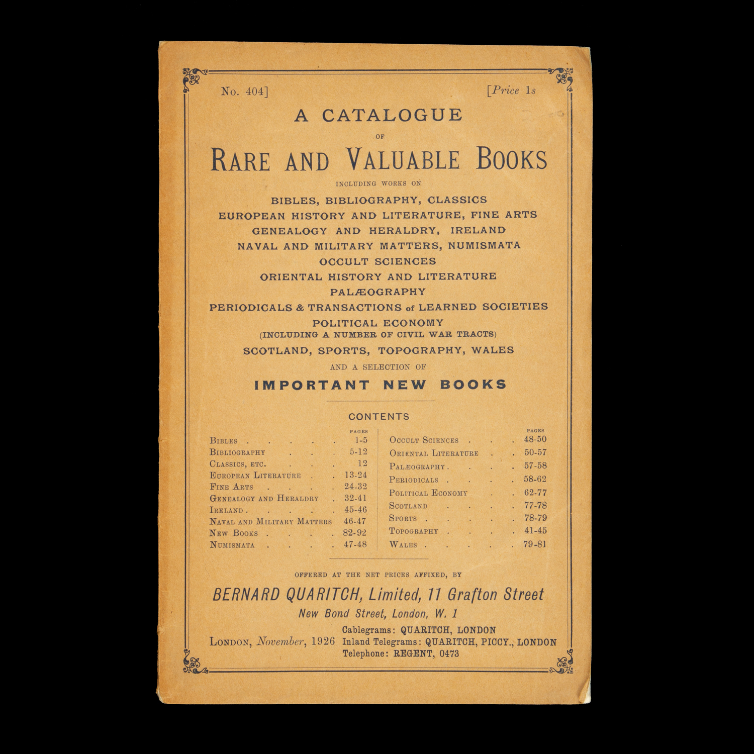 A catalogue of rare and valuable books